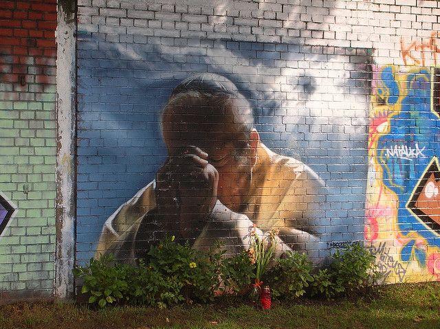 *Graffiti of Pope John Paul II