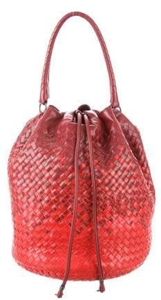 13380bc0f154 Bottega Veneta Intrecciato Drawstring Bag