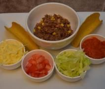 Easy As Tacos (meat and salsa prepared in Tm)