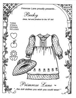 """These clothing patterns have been designed specifically for the 18"""" American Girl doll by Pleasant Company. As with all my patterns, the seam allowance is 1/4"""", making these patterns ideal for..."""