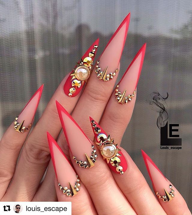 Nails Top Master Nails Top Master Fotos E Videos Do Instagram Red Stiletto Nails Stiletto Nails Designs Long Nail Designs