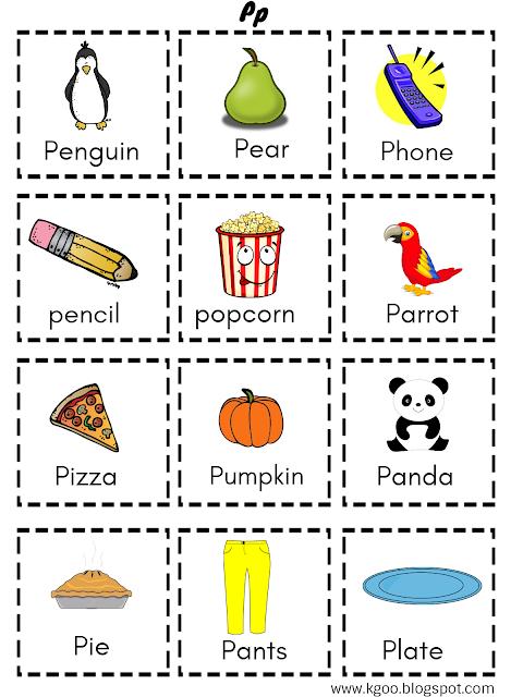 الحروف الانجليزية بالترتيب حرف P Letter P Activities Cute Monkey Cards