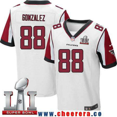 Mens Atlanta Falcons 88 Tony Gonzalez White Road 2017 Super Bowl LI Patch  Stitched NFL. White Tony Gonzalez Nike Youth Elite ... 3be79e6e7