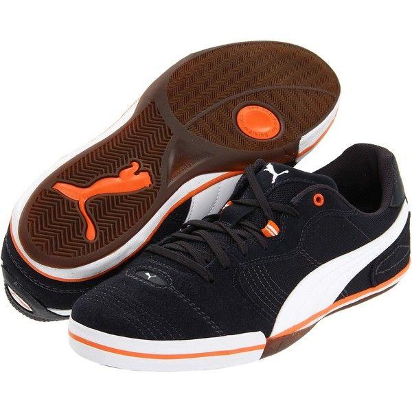 PUMA Esito Vulc Sala  Men Dark Navy/White/Team Orange Soccer Shoes
