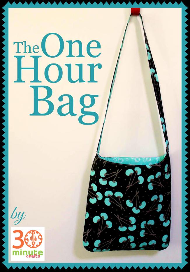 The One-Hour Bag | Nähen, Taschen nähen und Nähideen