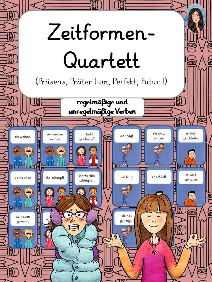 Zeitformen Quartett Prasens Prateritum Perfekt Futur I Regelmassige Und Unregelmassige V In 2020 Unregelmassige Verben Deutsch Unterricht Zeitformen