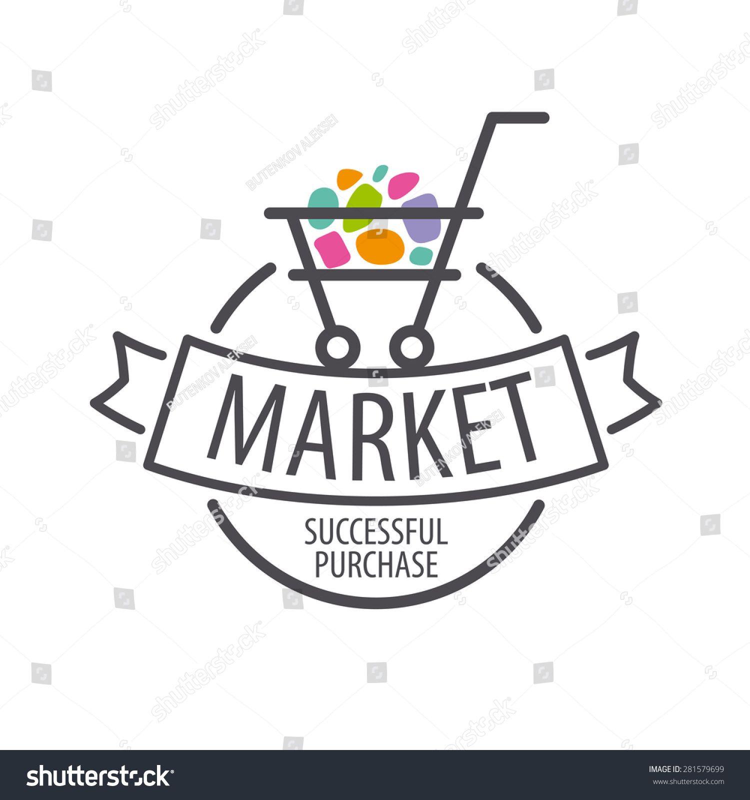 Round Vector Logo Shopping Cart Shop Logo Design Grocery Store Design Logo Design Free Templates