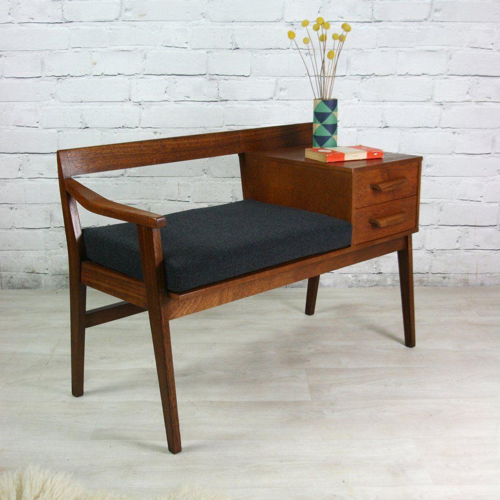 meuble t l phone avec banquette recherche google s jour pinterest meuble telephone. Black Bedroom Furniture Sets. Home Design Ideas