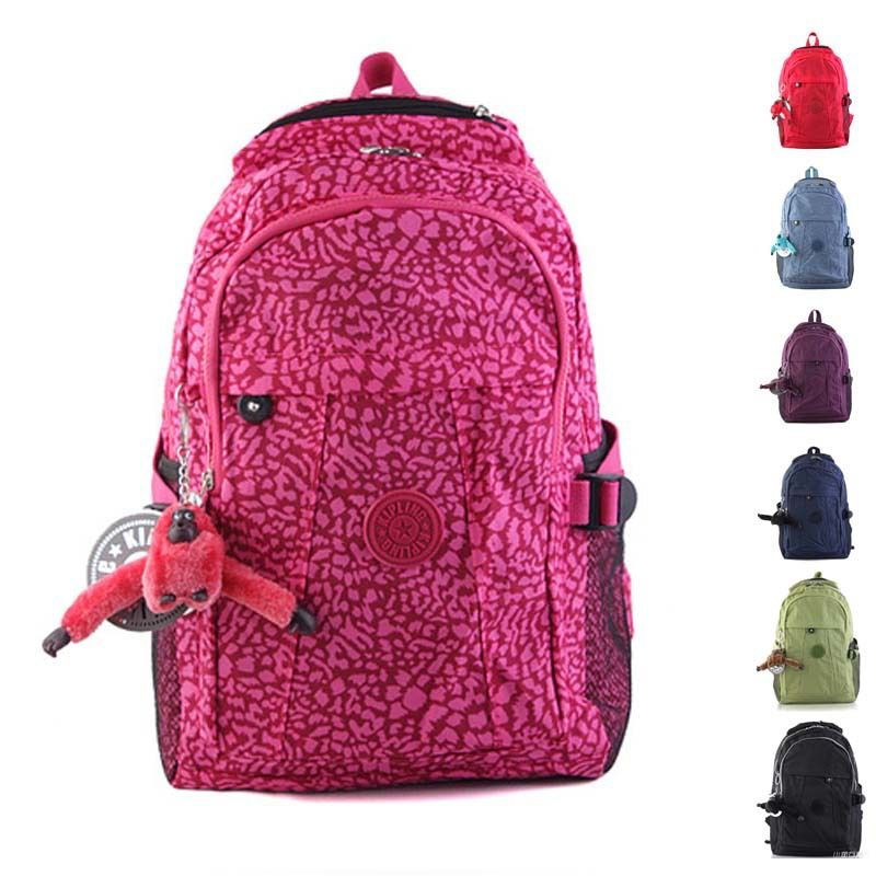Vintage soild color printing backpacks ; child school bags ...