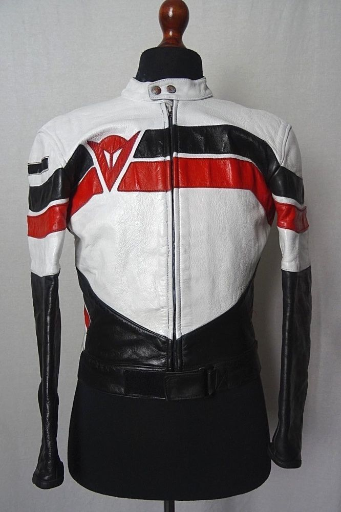 27f6850c2 RESTORED Vintage Dainese Leather Motorcycle Jacket Cafe Racer EU 50 ...