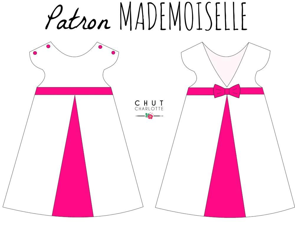 "Patron de la Robe ""Mademoiselle"" ! en 2020   Tuto couture robe fille, Robe patron, Robe"