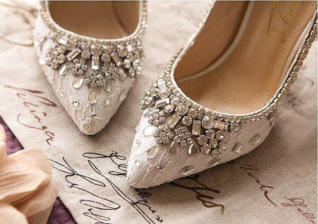 Bridal Kitten Heels Bridal Kitten Shoes Bridal Shoes Lace Crystals
