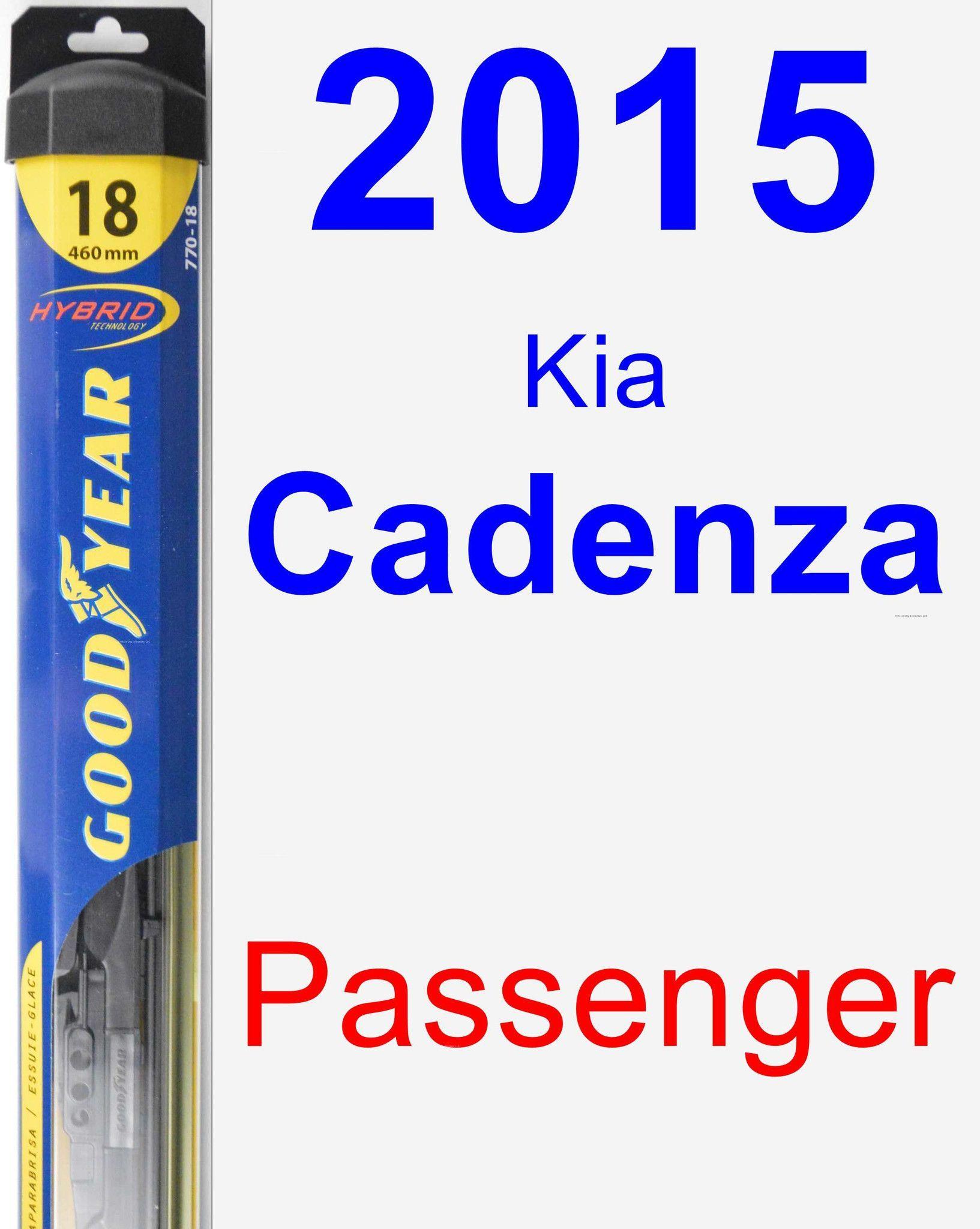 Passenger Wiper Blade for 2015 Kia Cadenza - Hybrid