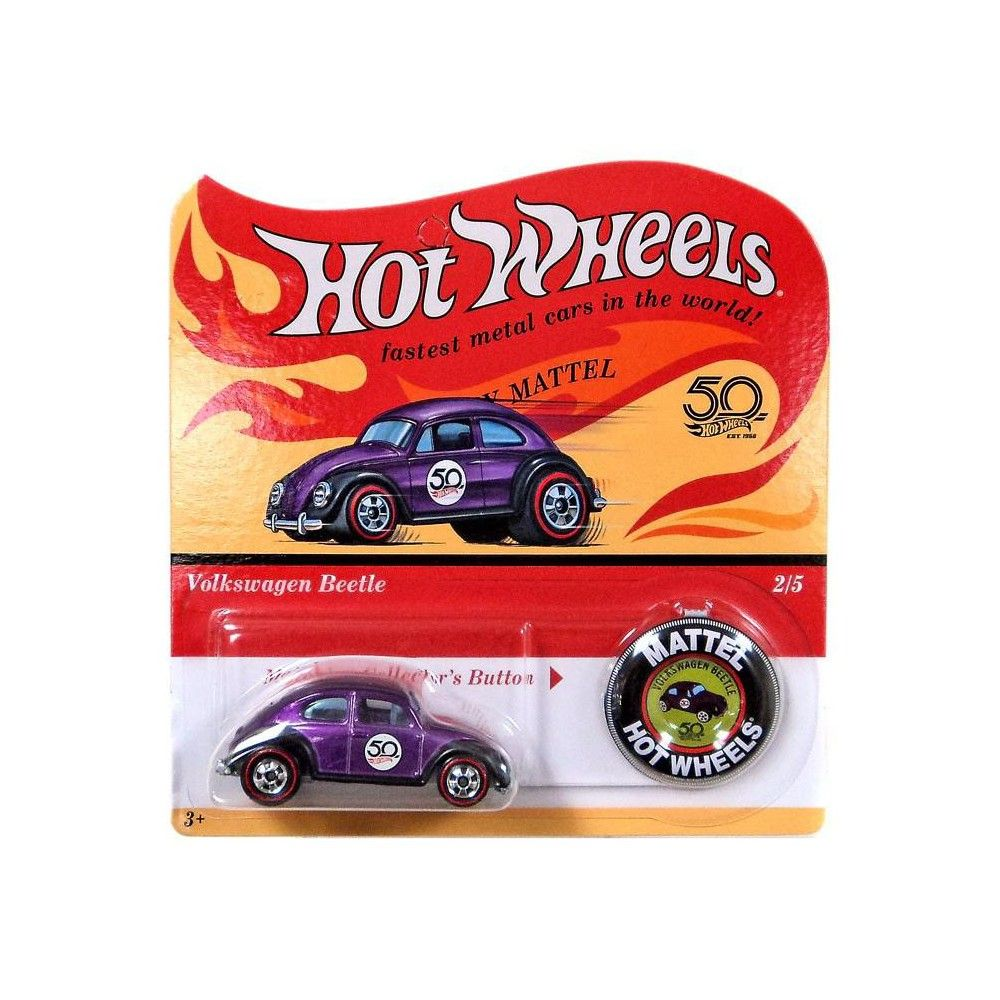 Hot Wheels 50th Anniversary Volkswagen Beetle Die-Cast Car