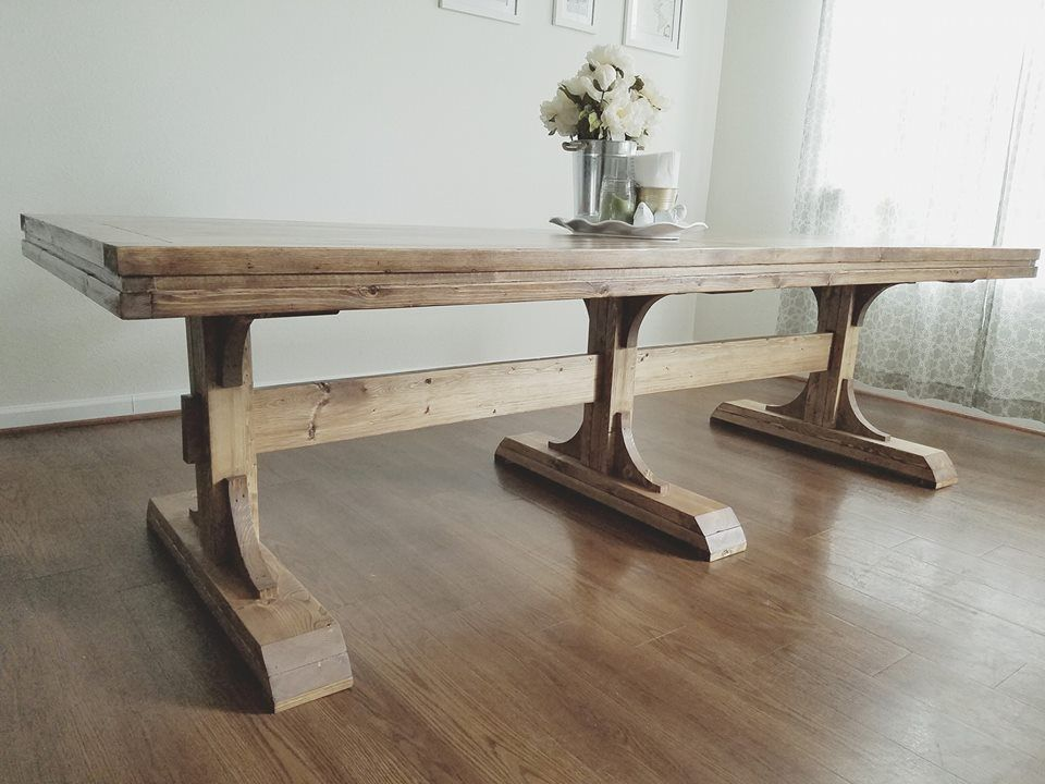 Stunning Trestle Dining Table Diy Diy Dining Table Diy Farmhouse Table Trestle Dining Tables