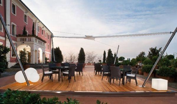 Terrasse Sonnenschutz-corradi Sonnensegel-freistehend Regendicht ... Sonnensegel Terrasse Sonnenschutz