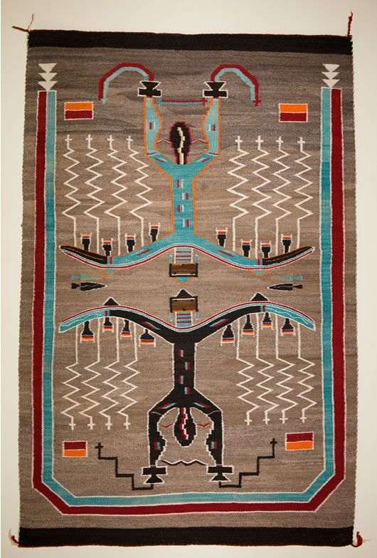 Sand Painting Pictorial Navajo Rug Weaver Unknown