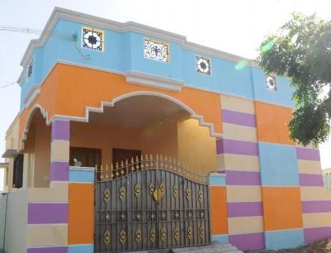 Exterior colour combination in complimentary colours in - Indian home exterior colour combinations ...