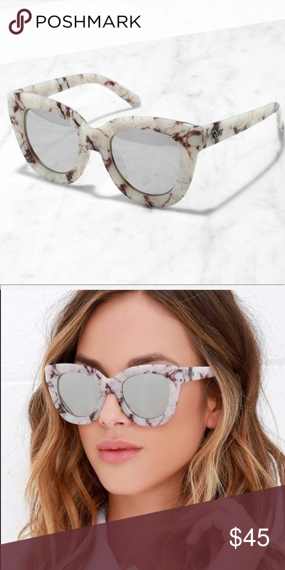 2816ef94a200b Quat Sugar and Spice Marbled Mirrored Sunglasses These super retro  silvermirrored sunglasses are perfect for any season. Pair with your  favorite accessories ...