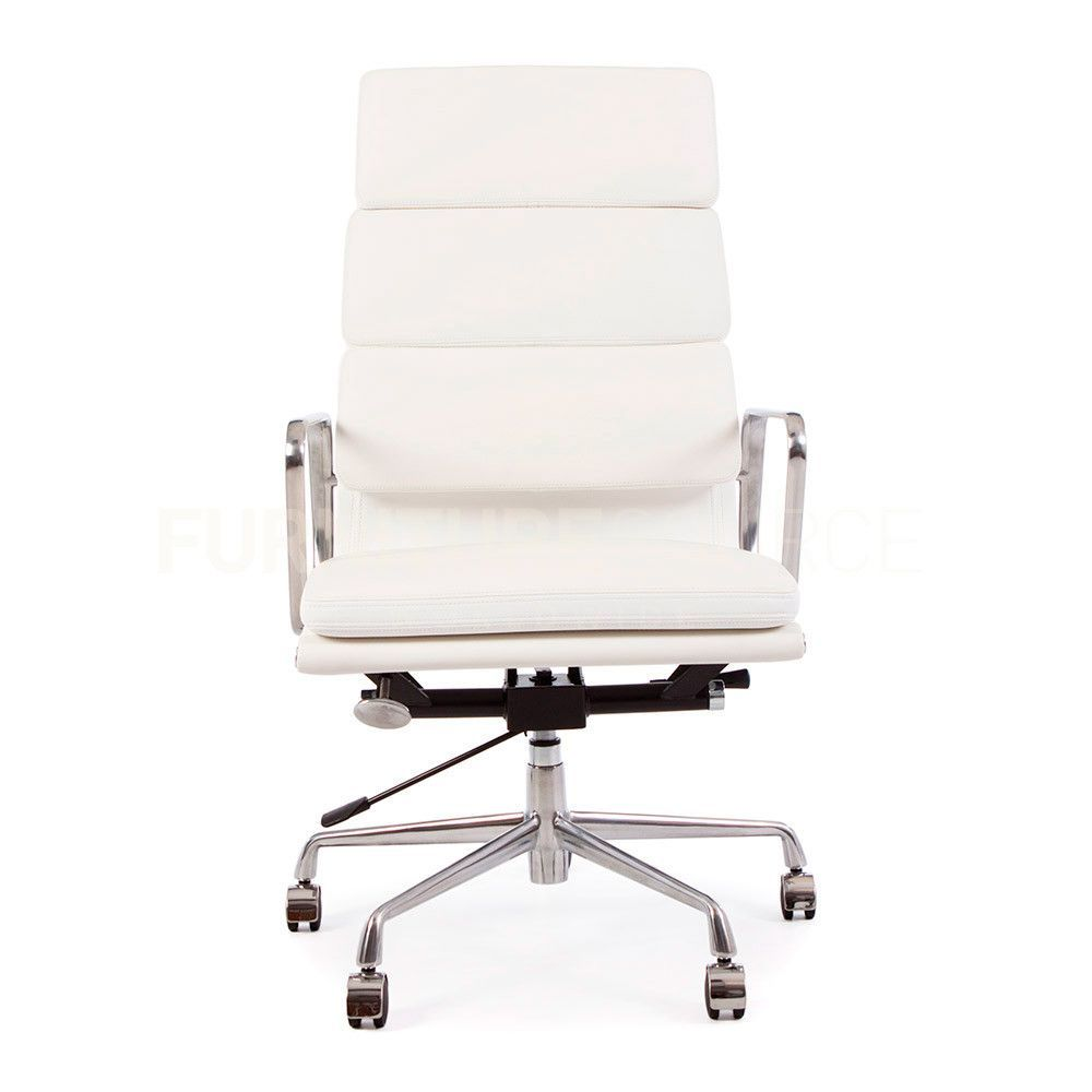 soft pad high back management office chair eames style white