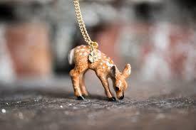 Red Bird Makes - Porcelain Deer Necklace / £25
