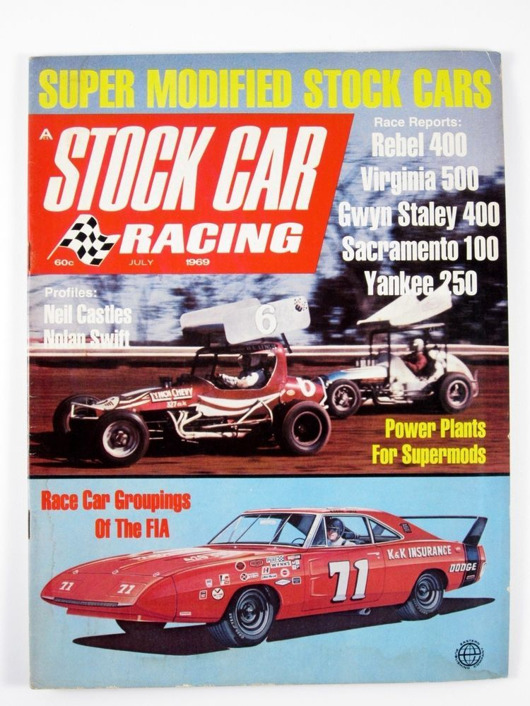Stock Car Racing July 1969 Super Modifieds/Neil Castles