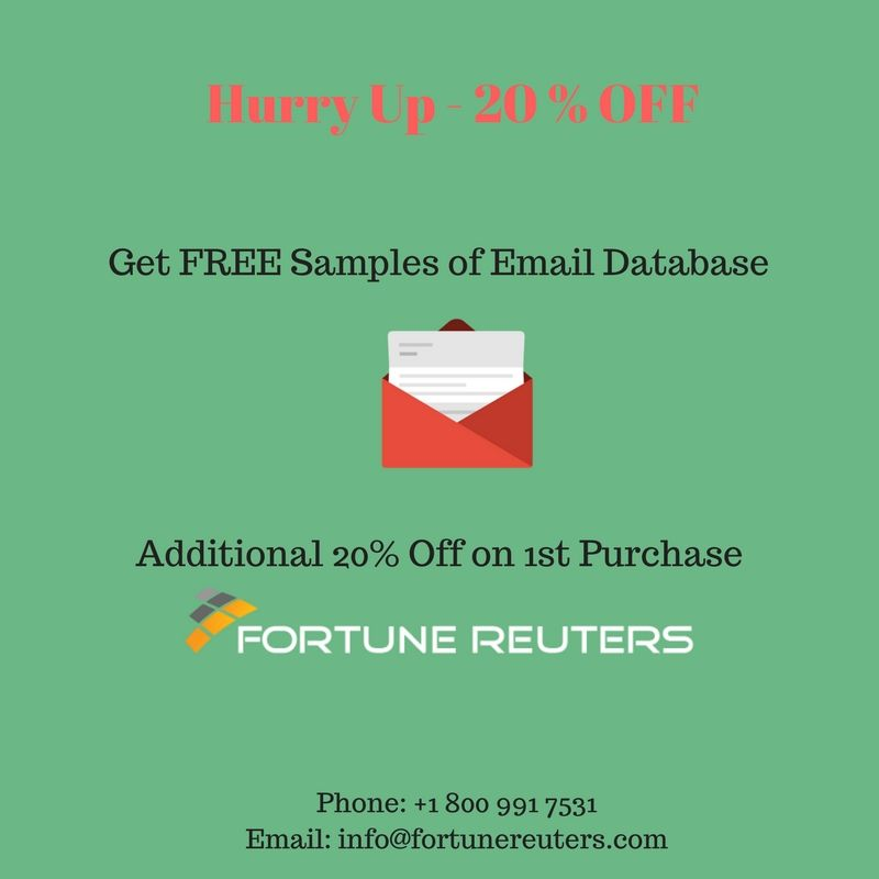 Get free samples of email database and additional 20 off