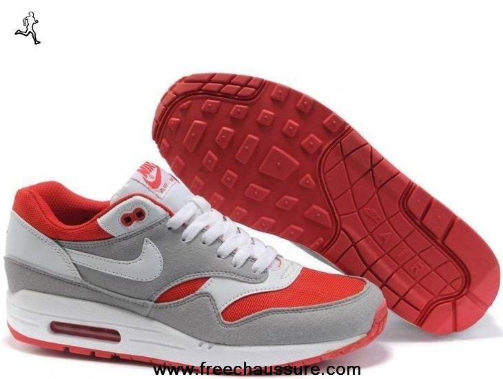 air max 1 rouge gris blanc
