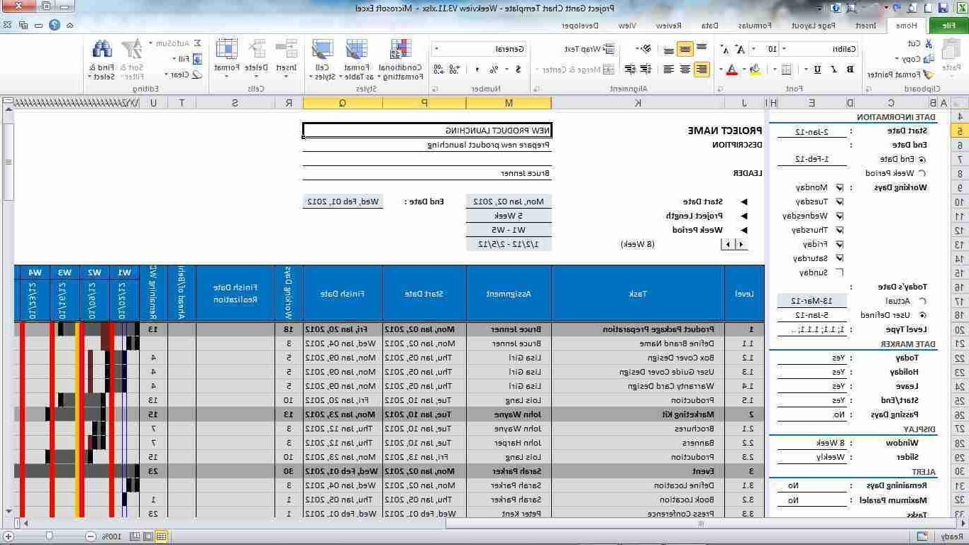 Excel Project Management Template  Excel Invoice Template