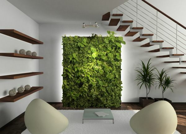 tolle wandgestaltung wohnideen wandfarben pflanzen wand deko - pflanzen dekoration wohnzimmer