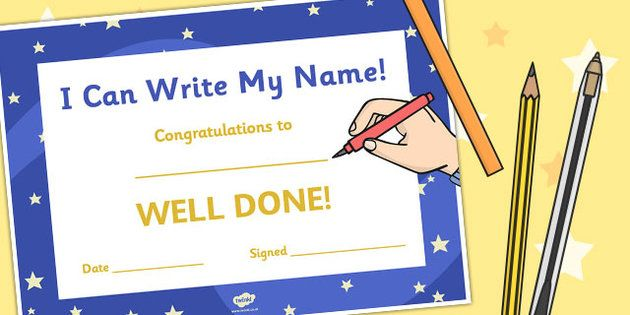 I Can Write My Name Certificate Scrapbook - School Free - naming certificates free templates
