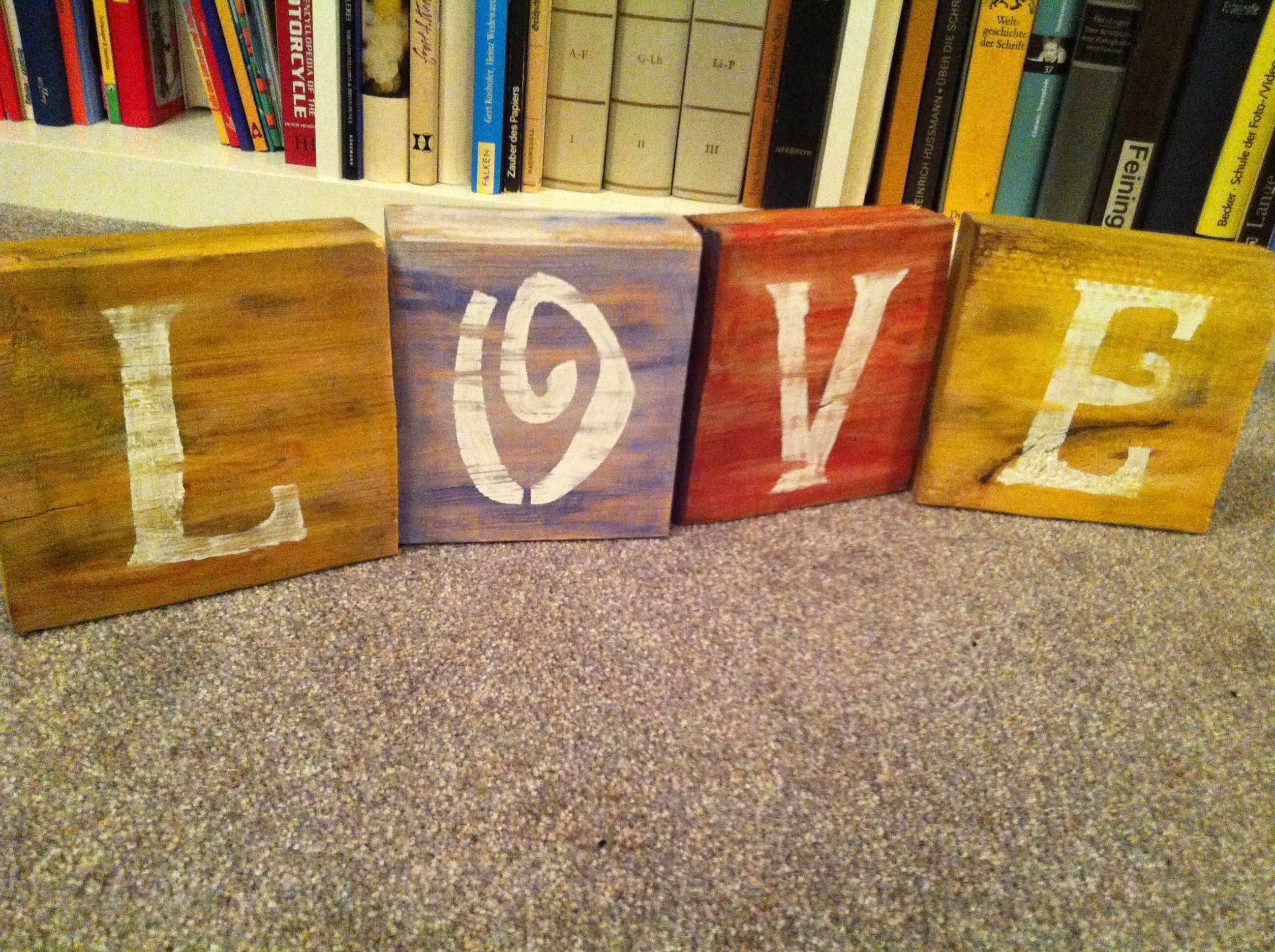 Wooden blocks acrylic paint wood crafts pinterest for Acrylic paint for wood crafts