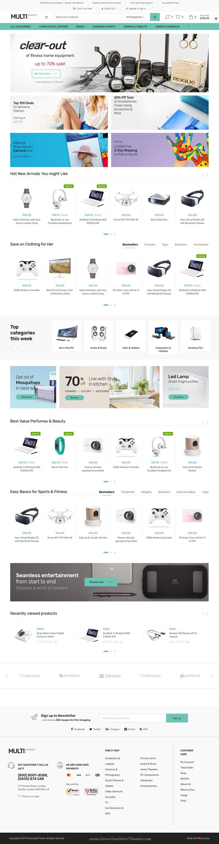 Techmarket - Multi-demo & Electronics Store HTML Template