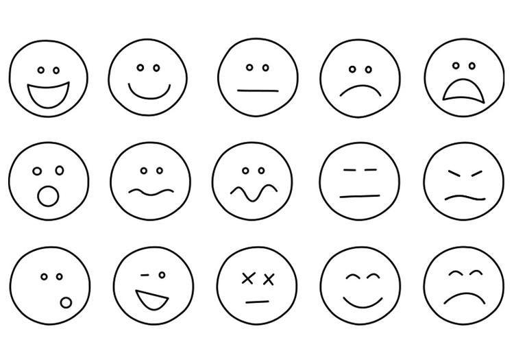 Caritas Estado De Animo Para Colorear Imagui Emociones