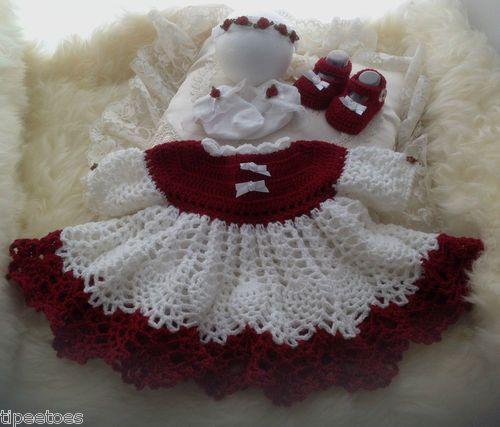 Baby GIrls Pineapple Crochet Dress with Headband, Socks & Mary Jane ...