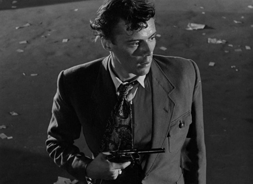 "Dirk Bogarde in ""The Blue Lamp"" (1950, Basil Dearden) / Cinematography by  Gordon Dines | Blue lamp, Cinematography, Film"