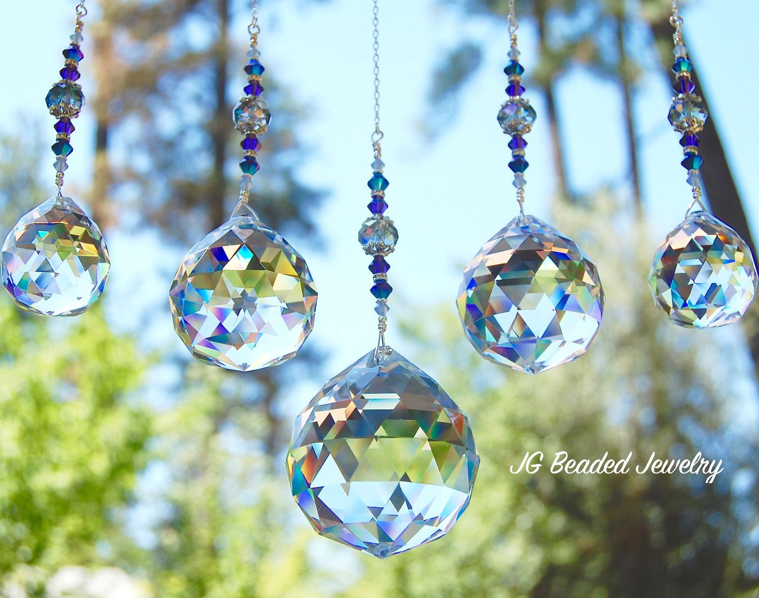 Crystal Prisms Hung In A Window Give You A Roomful Of Rainbows