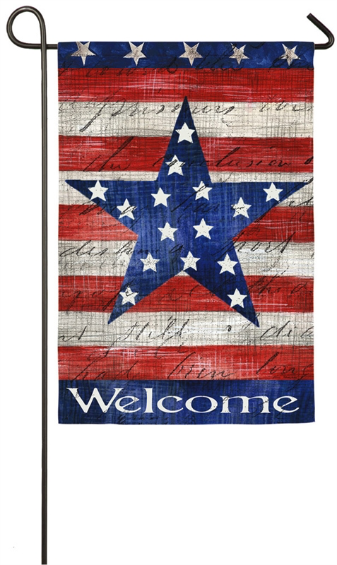 Patriotic Stripe Star Garden Sub Suede Flag With Images Flag