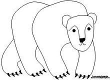google polar bear coloring pages - photo#3