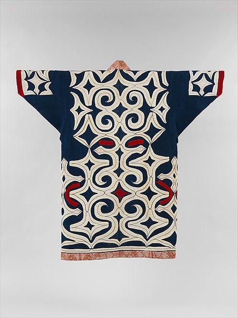 Ainu robe Period: Meiji period (1868–1912) Culture: Japan Medium: Cotton and wool with applique (kiri-fuse) Dimensions: Overall: 48 1/4 x 50 1/2 in. (122.6 x 128.3 cm)