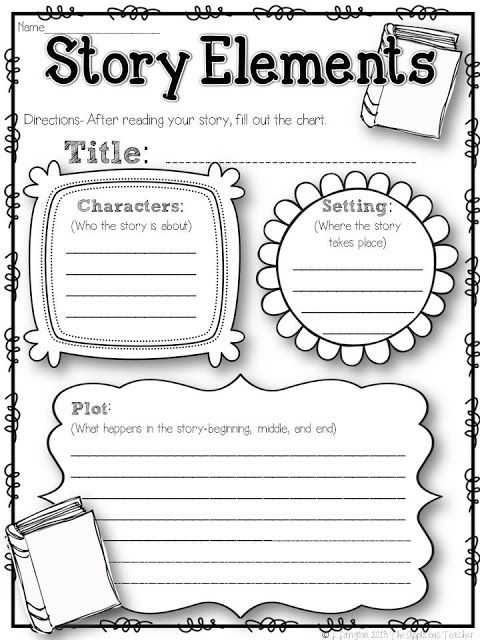 The Applicious Teacher: Five for Friday- the 2nd Week in and a FREEBIE! Story elements graphic organizer