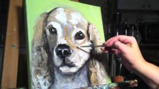 time lapse dog painting by anna woerman Spaniel dog, Dog