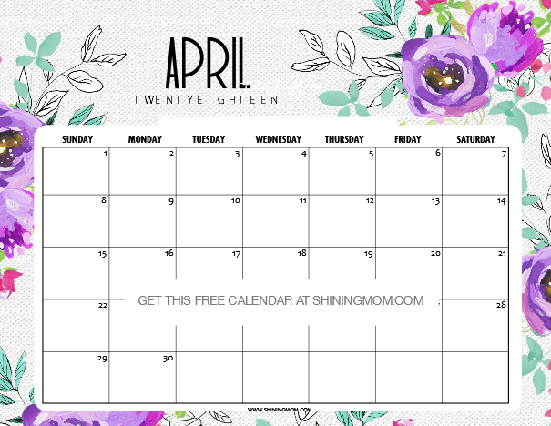 Calendar Design April : Free printable april calendar amazing designs