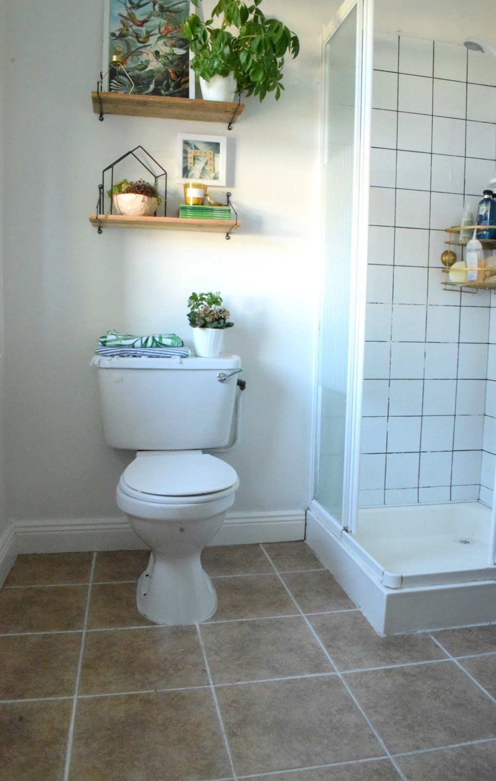 how to stencil a tile floor with chalk paint to get the look of ...