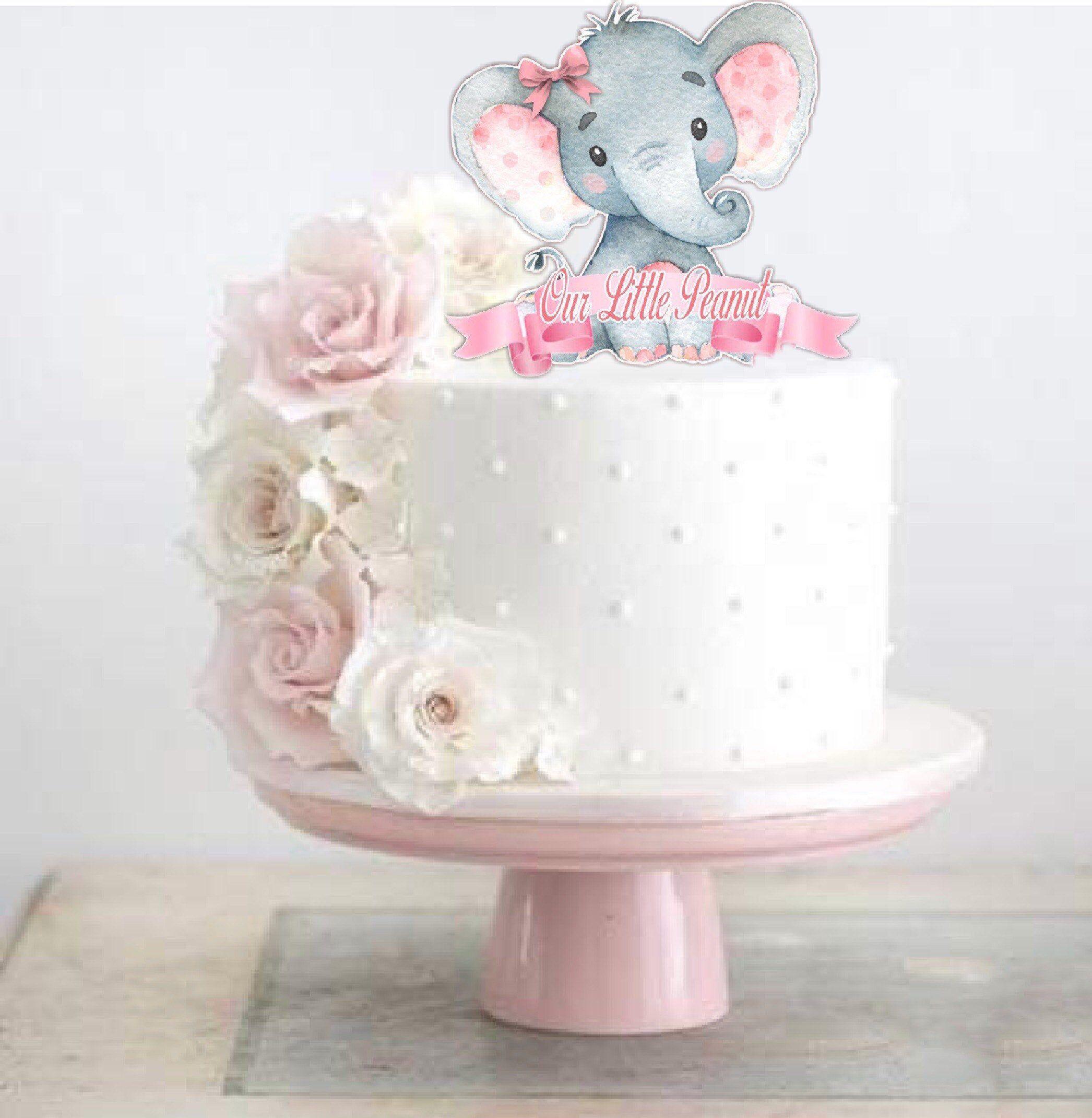 First Birthday Elephant Birthday Baby Shower Table Decoration Elephant Party Decor Elephant Baby Shower,Girl Baby Shower Elephant Theme
