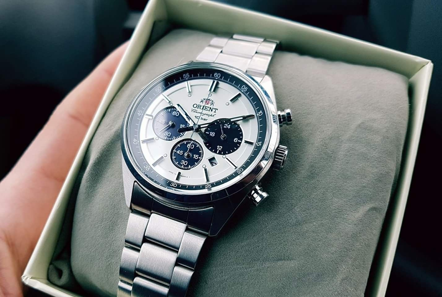 237  ORIENT Men s watch NEO 70 s neo-Seventies SOLAR PANDA milky white  WV0041TX  orient  watch  chrono  affordable 9c1908951ba