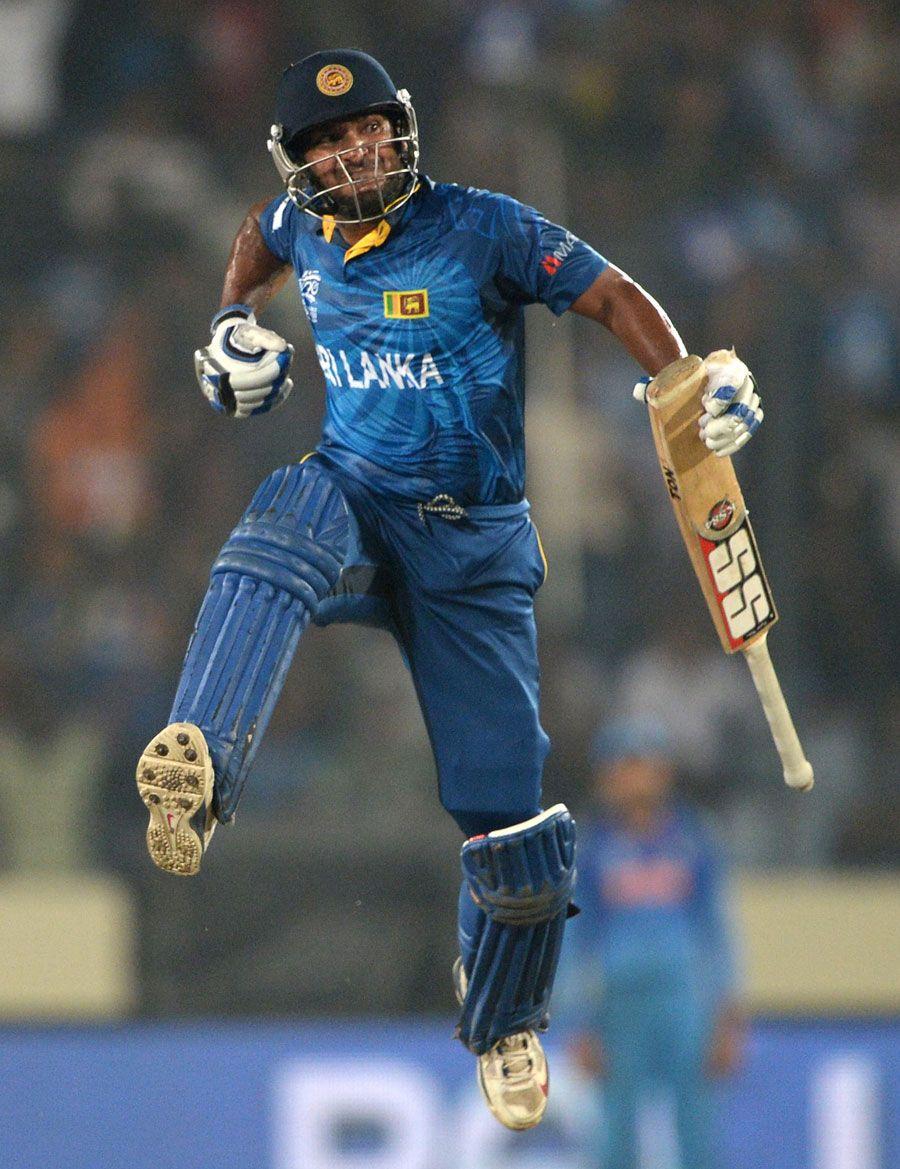 Kumar Sangakkara Leaps In Joy After Winning The World T20 India V Sri Lanka Final World T20 Mirpur April 6 2 Cricket Teams Cricket Sport Kumar Sangakkara
