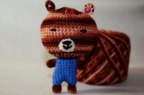 Guarda questo articolo nel mio negozio Etsy https://www.etsy.com/it/listing/505619405/bear-brown-amigurumiamigurumi