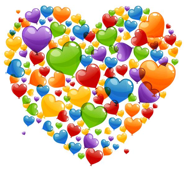 Rainbow Heart Clipart Sketch 10cm Rainbow Heart Heart Art Heart Wallpaper