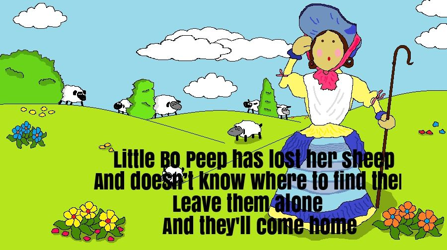 Little Bo Peep Nursery Rhyme Lyrics Nursery Rhymes Lyrics Nursery Rhymes Rhymes Lyrics